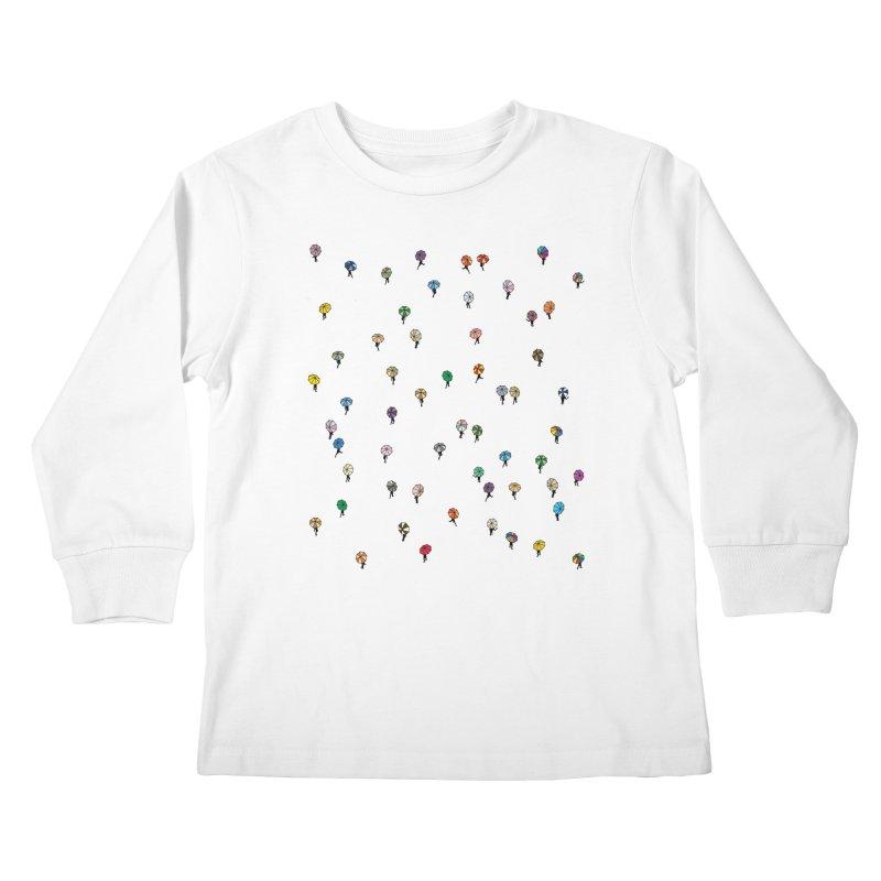 Walking Weather Pattern Kids Longsleeve T-Shirt by zomboy's Artist Shop