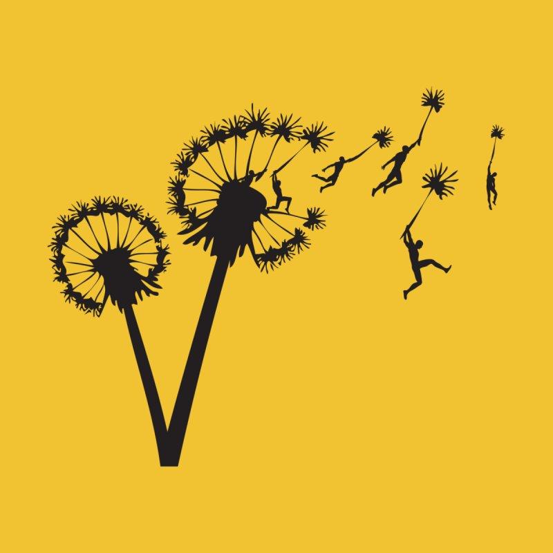 Dandelion Flight Men's T-Shirt by Zomboy Arts