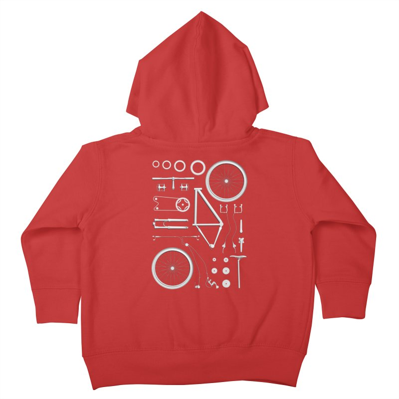 Bike Exploded Kids Toddler Zip-Up Hoody by Zomboy Arts