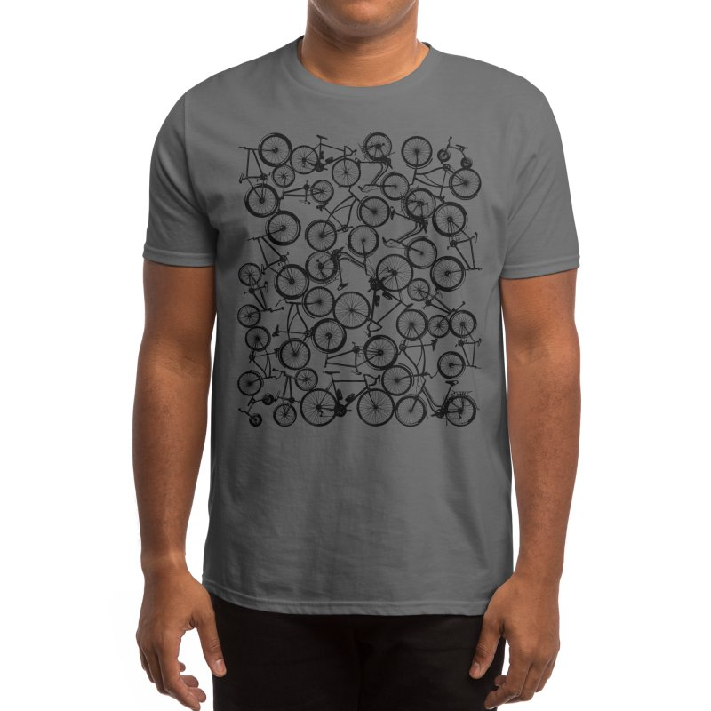 Pile of Bicycles Men's T-Shirt by Zomboy Arts
