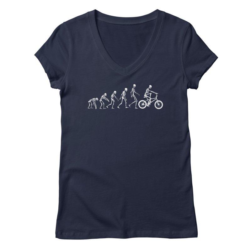 Evolution BMX Women's V-Neck by zomboy's Artist Shop