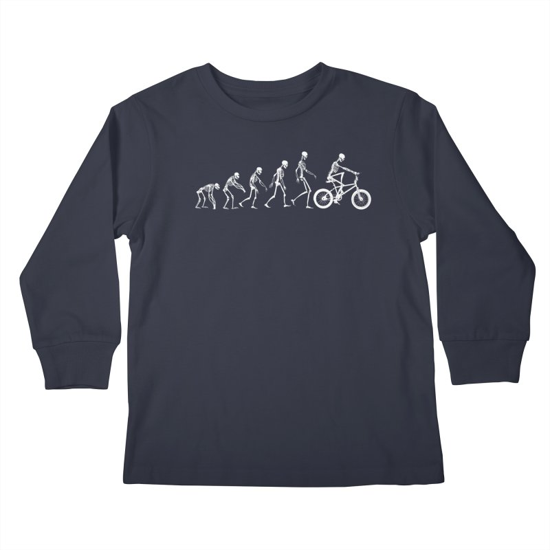 Evolution BMX Kids Longsleeve T-Shirt by zomboy's Artist Shop