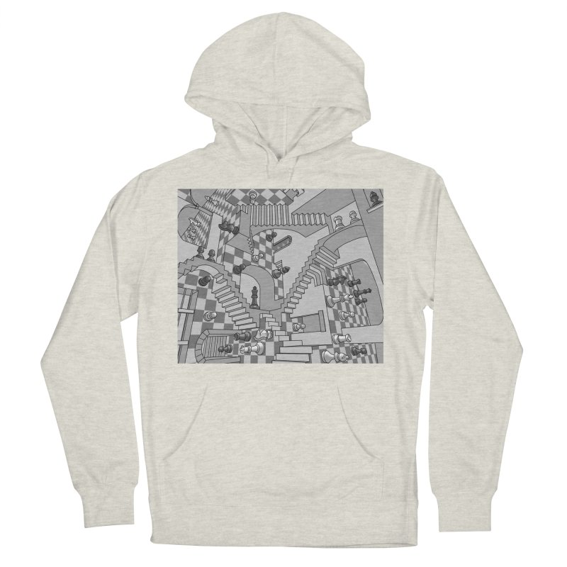 Check Women's French Terry Pullover Hoody by zomboy's Artist Shop
