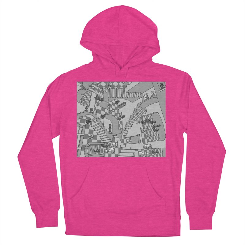 Check Men's French Terry Pullover Hoody by zomboy's Artist Shop