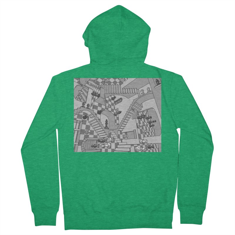 Check Women's French Terry Zip-Up Hoody by zomboy's Artist Shop