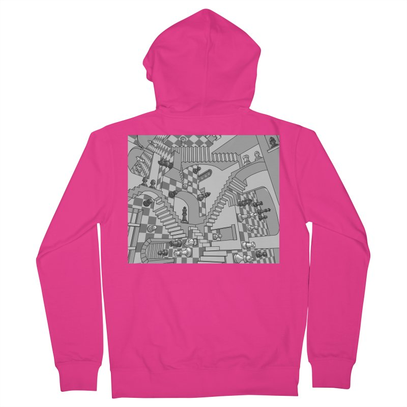 Check Men's French Terry Zip-Up Hoody by zomboy's Artist Shop