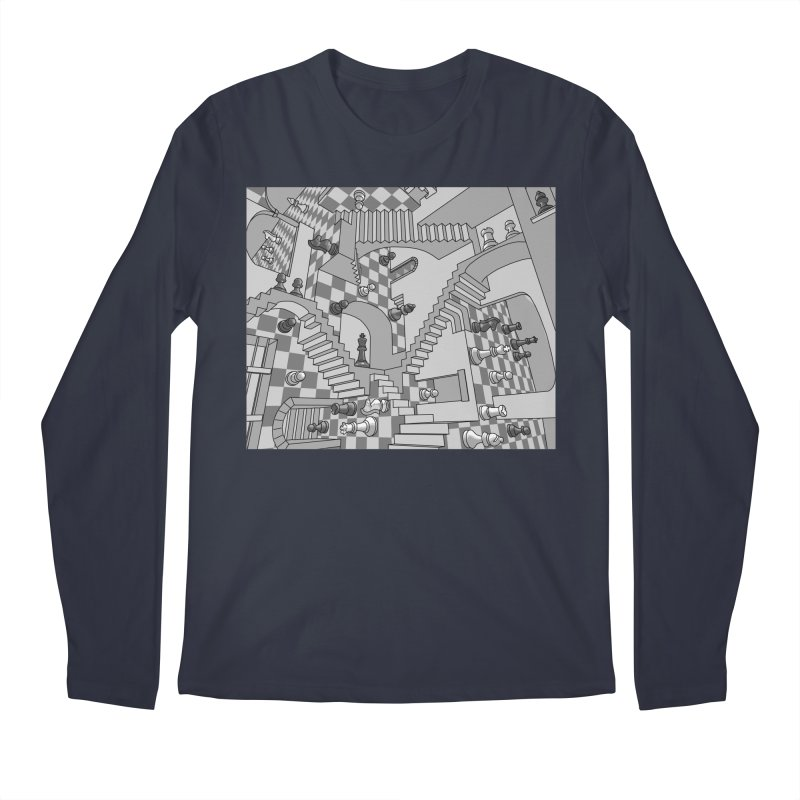 Check Men's Regular Longsleeve T-Shirt by zomboy's Artist Shop