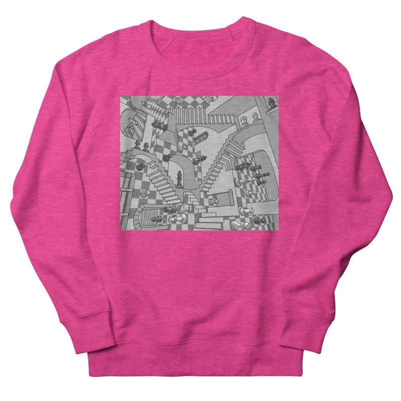 Check Women's French Terry Sweatshirt by zomboy's Artist Shop