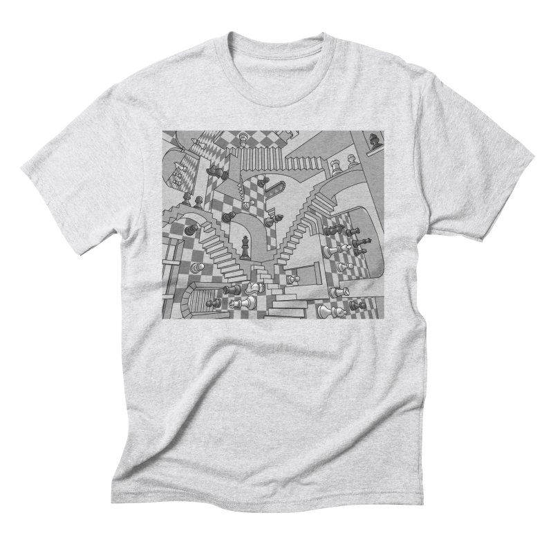Check Men's Triblend T-Shirt by zomboy's Artist Shop