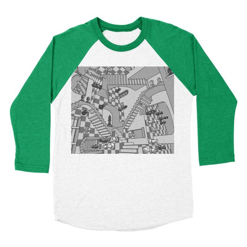 Check Women's Baseball Triblend T-Shirt by zomboy's Artist Shop