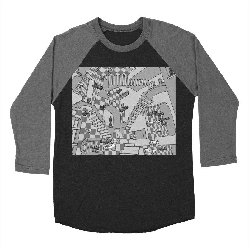 Check Women's Baseball Triblend Longsleeve T-Shirt by zomboy's Artist Shop