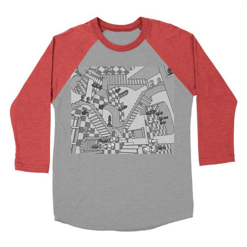 Check Men's Baseball Triblend T-Shirt by zomboy's Artist Shop
