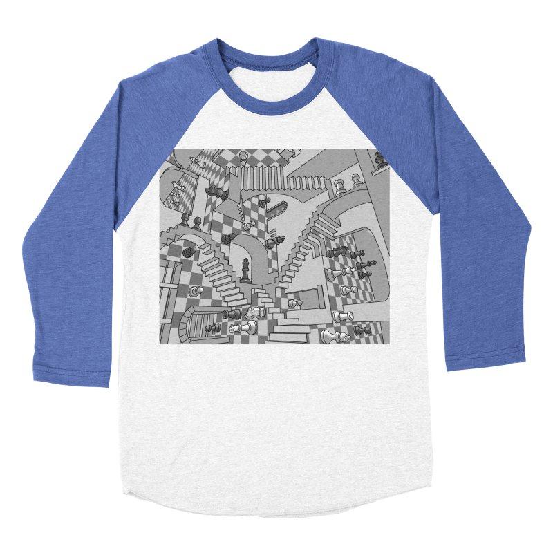 Check Men's Baseball Triblend Longsleeve T-Shirt by zomboy's Artist Shop