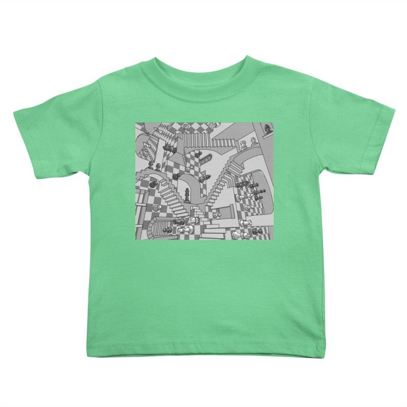 Check Kids Toddler T-Shirt by zomboy's Artist Shop