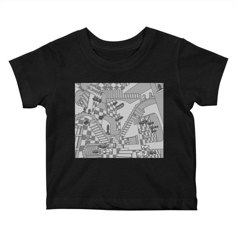 Check Kids Baby T-Shirt by zomboy's Artist Shop