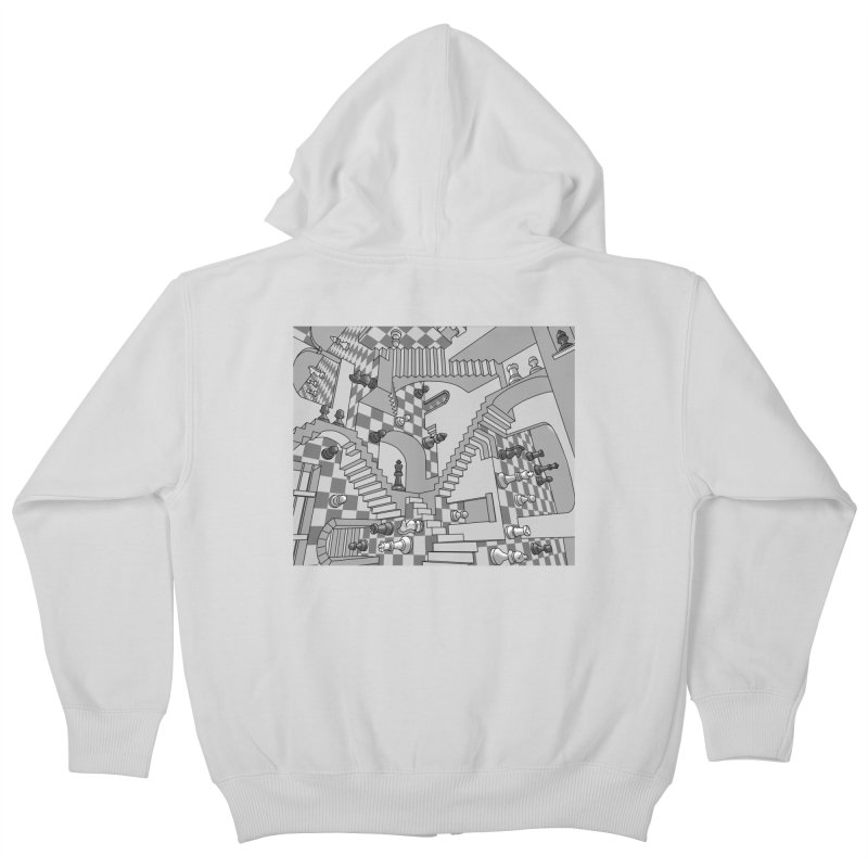 Check Kids Zip-Up Hoody by zomboy's Artist Shop