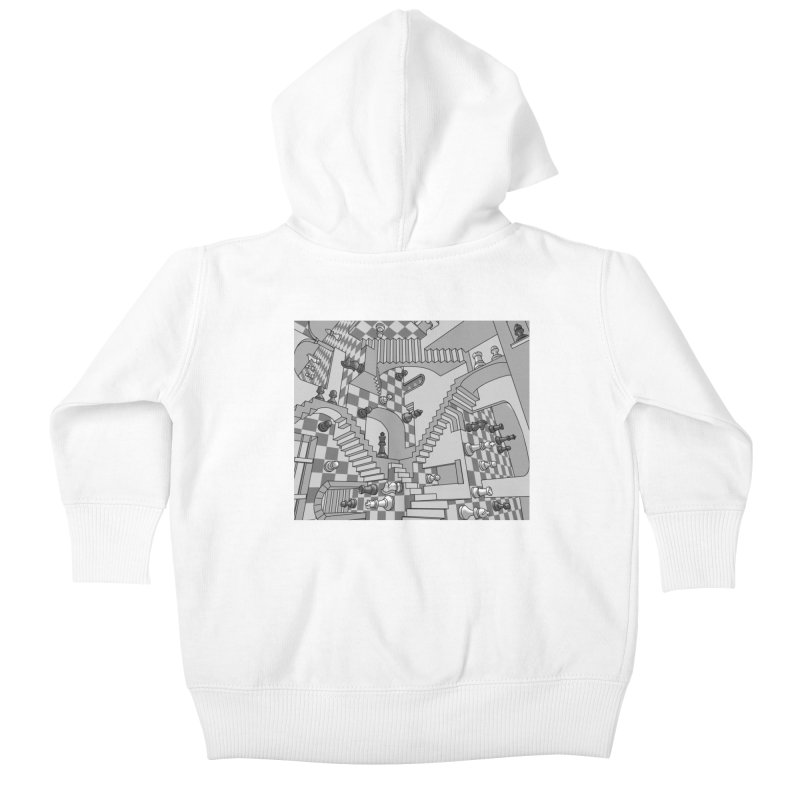 Check Kids Baby Zip-Up Hoody by zomboy's Artist Shop