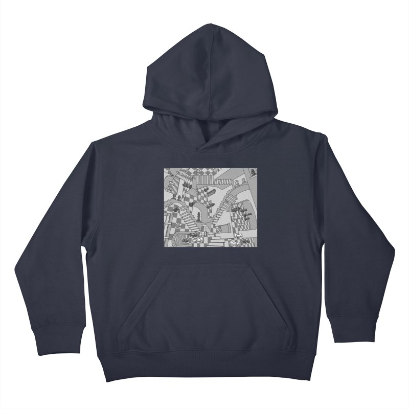 Check Kids Pullover Hoody by zomboy's Artist Shop