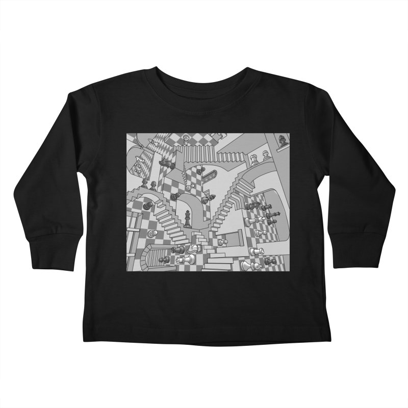 Check Kids Toddler Longsleeve T-Shirt by zomboy's Artist Shop