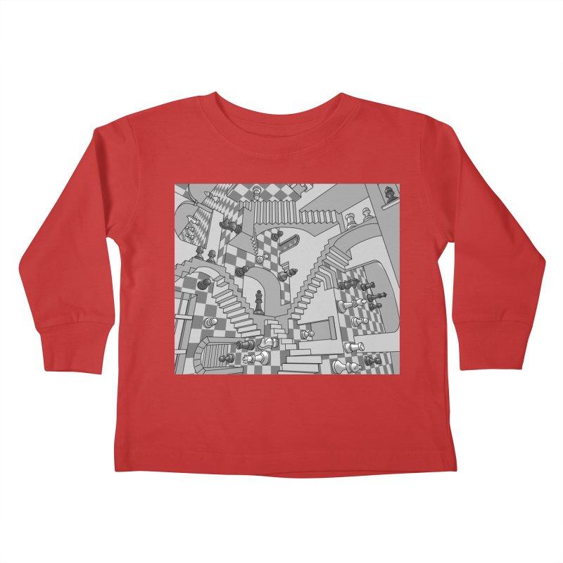 Check Kids Toddler Longsleeve T-Shirt by zomboy's Artist Shop