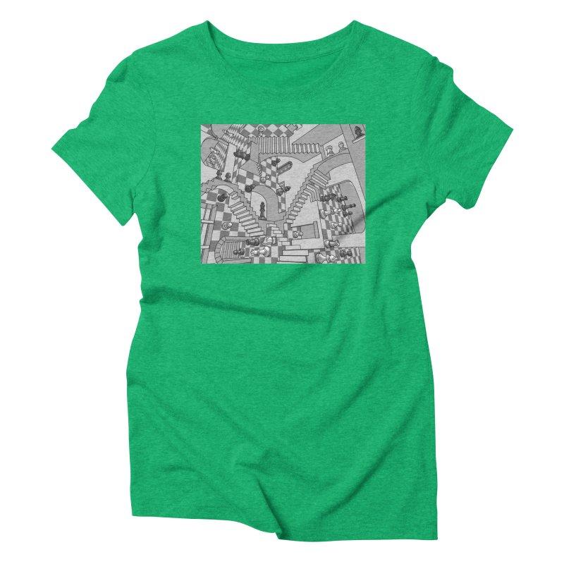 Check Women's Triblend T-Shirt by zomboy's Artist Shop