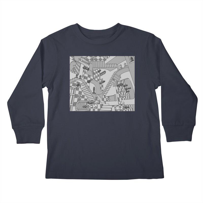 Check Kids Longsleeve T-Shirt by zomboy's Artist Shop