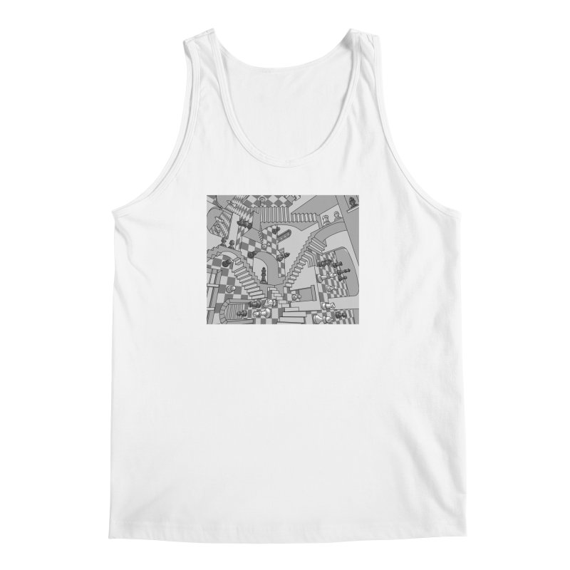 Check Men's Regular Tank by zomboy's Artist Shop