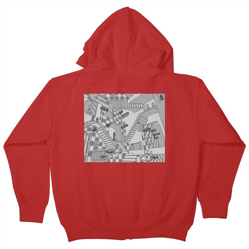 Check Kids Zip-Up Hoody by zomboy's Artist Shop