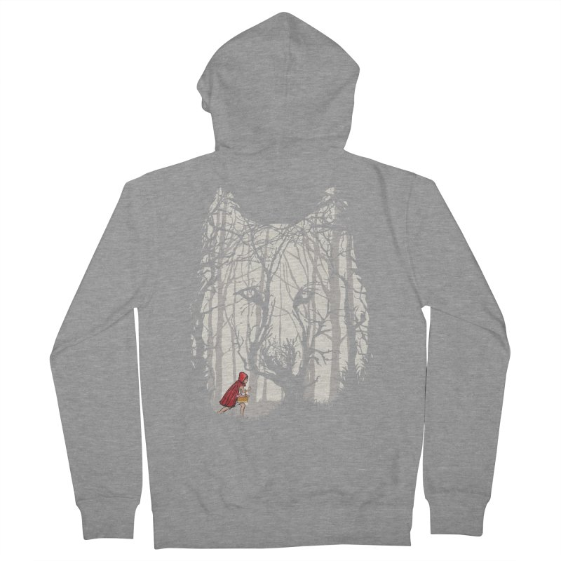 Little Red Women's French Terry Zip-Up Hoody by zomboy's Artist Shop