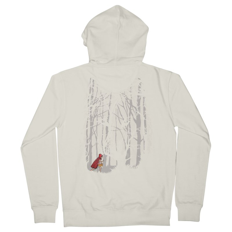 Little Red Men's French Terry Zip-Up Hoody by zomboy's Artist Shop