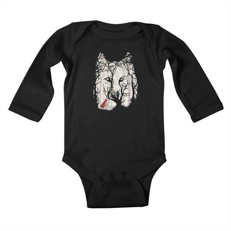 Little Red Kids Baby Longsleeve Bodysuit by zomboy's Artist Shop