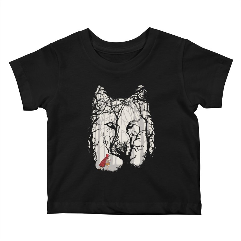 Little Red Kids Baby T-Shirt by zomboy's Artist Shop