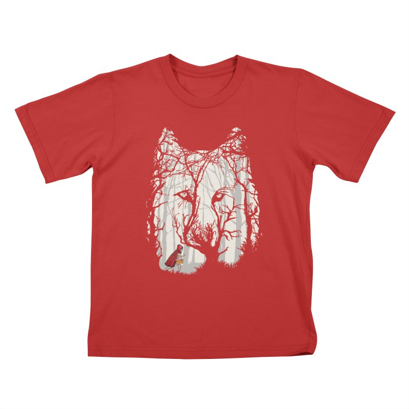 Little Red Kids T-Shirt by zomboy's Artist Shop