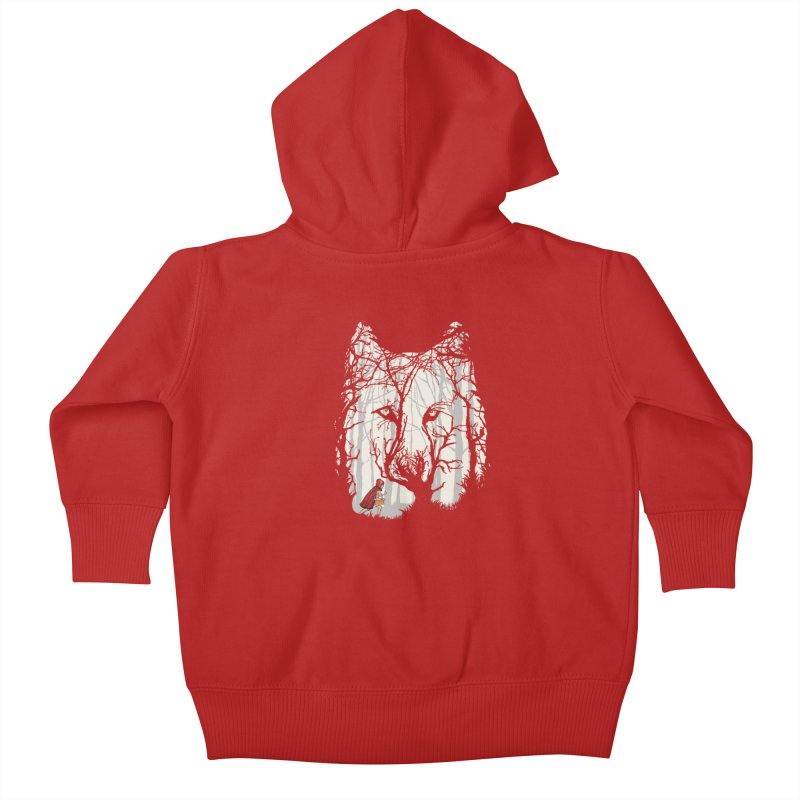 Little Red Kids Baby Zip-Up Hoody by zomboy's Artist Shop