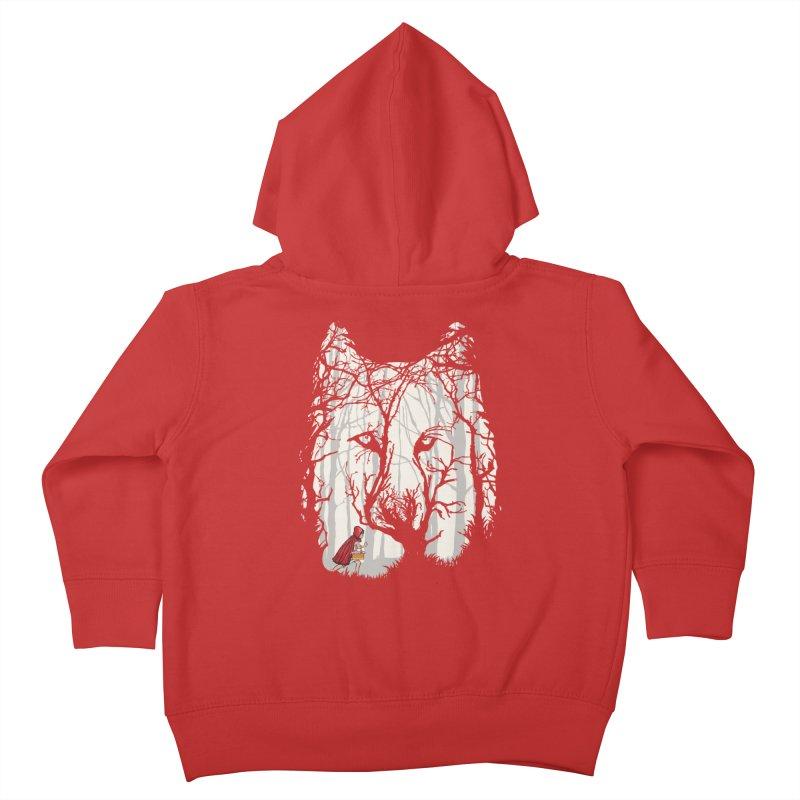 Little Red Kids Toddler Zip-Up Hoody by zomboy's Artist Shop