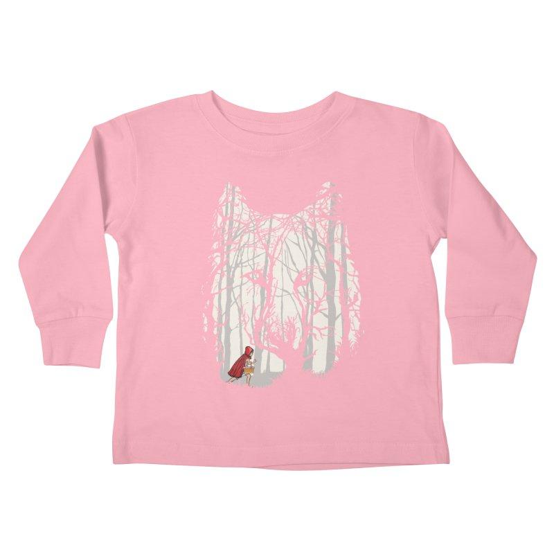 Little Red Kids Toddler Longsleeve T-Shirt by zomboy's Artist Shop
