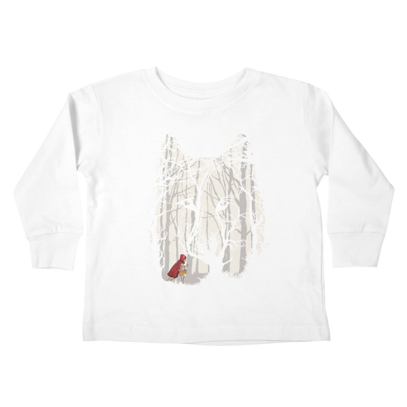 Little Red Kids Toddler Longsleeve T-Shirt by zomboy's Artist Shop