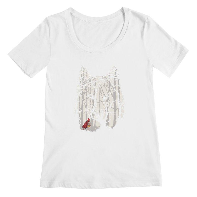 Little Red Women's Scoopneck by zomboy's Artist Shop