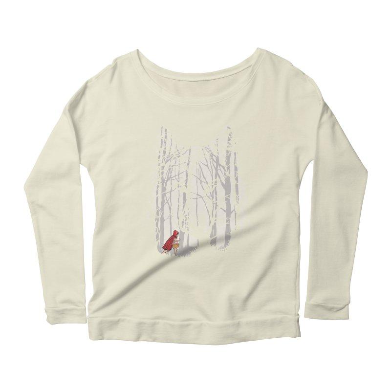 Little Red Women's Longsleeve Scoopneck  by zomboy's Artist Shop