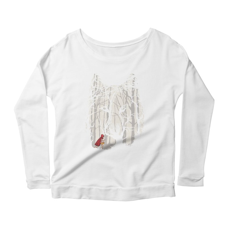 Little Red Women's Scoop Neck Longsleeve T-Shirt by zomboy's Artist Shop