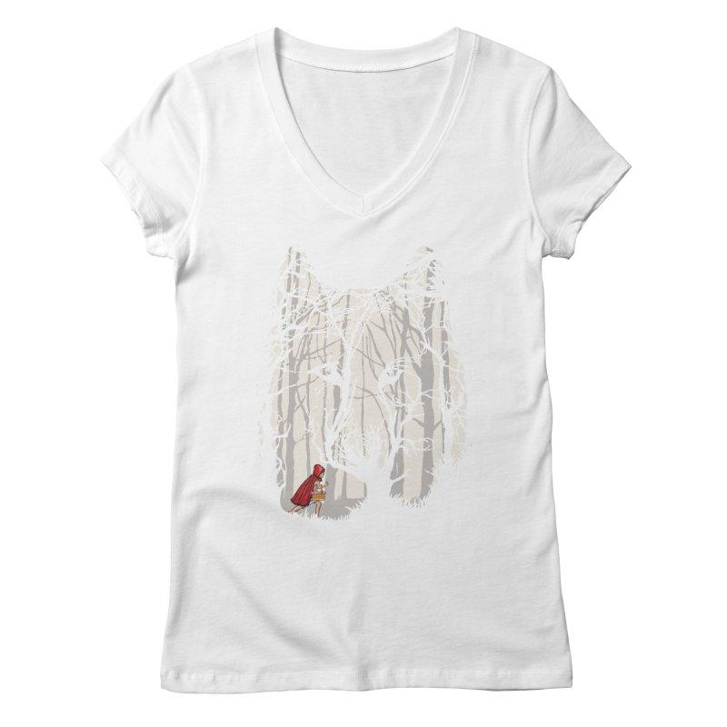 Little Red Women's V-Neck by zomboy's Artist Shop