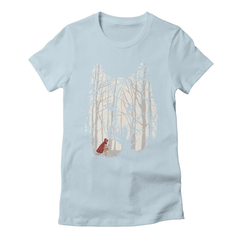 Little Red Women's Fitted T-Shirt by zomboy's Artist Shop