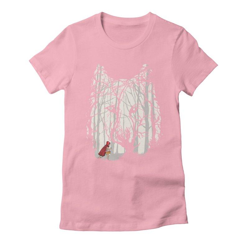 Little Red Women's Fitted T-Shirt by zomboy's Artist Shop