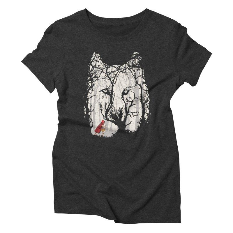 Little Red Women's Triblend T-Shirt by zomboy's Artist Shop