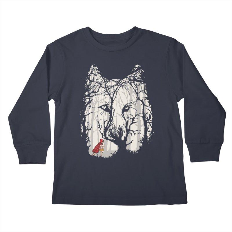 Little Red Kids Longsleeve T-Shirt by zomboy's Artist Shop