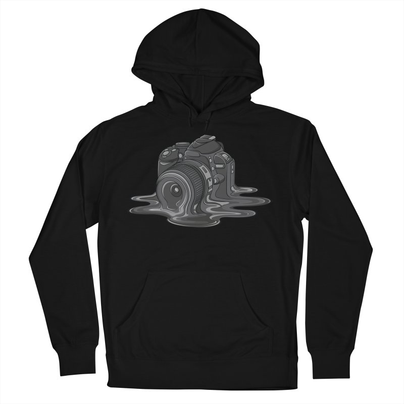 Camera Melt Men's French Terry Pullover Hoody by zomboy's Artist Shop