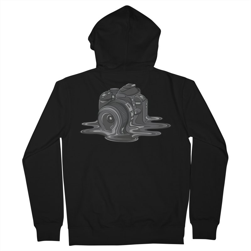 Camera Melt Women's French Terry Zip-Up Hoody by zomboy's Artist Shop
