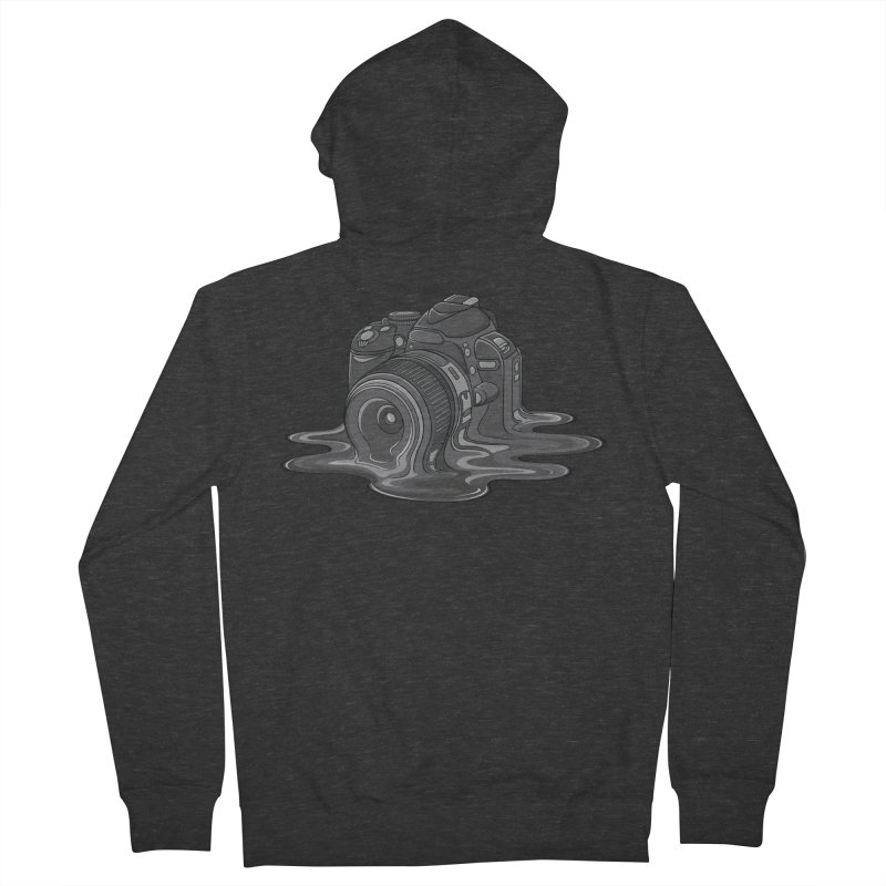 Camera Melt Men's French Terry Zip-Up Hoody by zomboy's Artist Shop