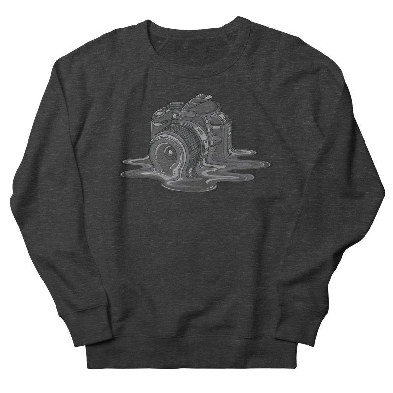 Camera Melt Men's French Terry Sweatshirt by zomboy's Artist Shop