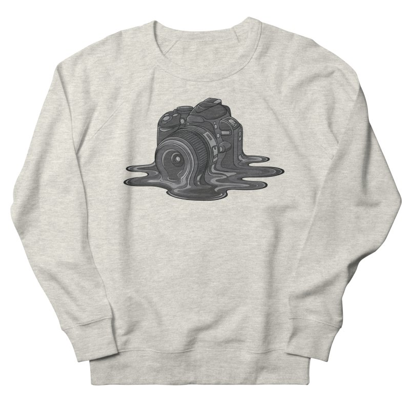 Camera Melt Men's French Terry Sweatshirt by zomboy's Artist Shop